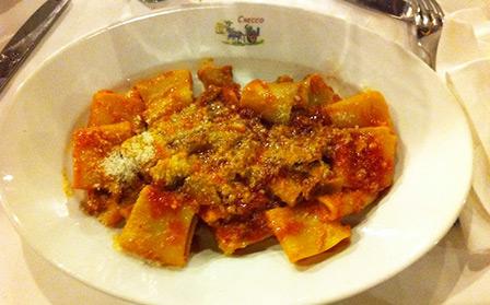 Amatriciana, piatto tipico della cucina romana