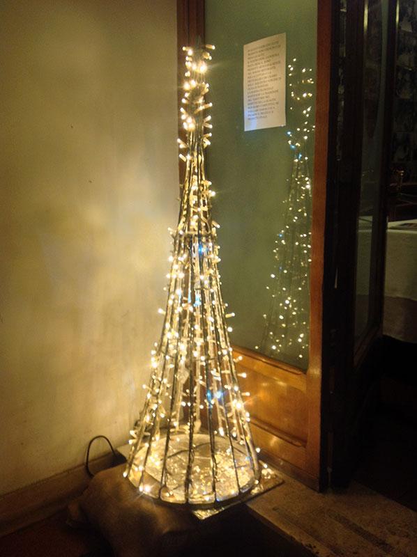 Natale a Roma, trastevere, al ristorante da Checco Er Carettiere