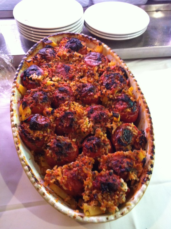Pomodori con riso - pranzo di ferragosto a Roma