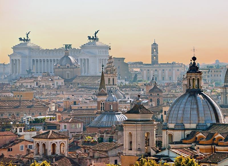 Foto panorama Roma